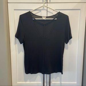 Black Garage V-Neck Shirt